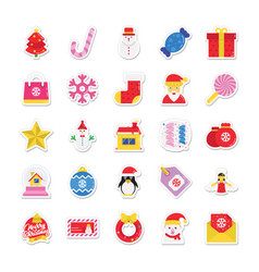 Christmas and celebration colored icons 1 vector