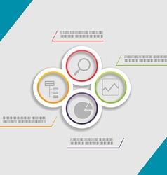 Circle Modern Template Presentation Style vector