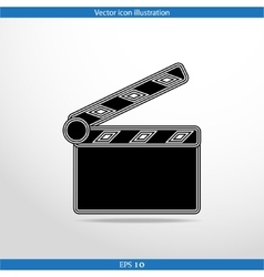 clapperboard web icon vector image