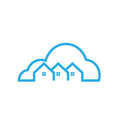 cloud house logo icon template vector image