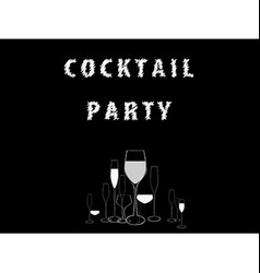 Cocktail Party black Ilustration vector