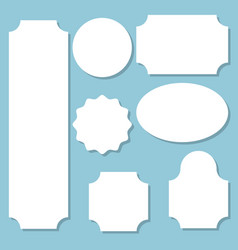 collection of paper labels of various forms set vector image