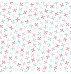colorful seamless memphis pattern in soft colors vector image