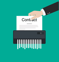 contract failure agreement cancelation broken vector image