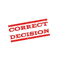 Correct Decision Watermark Stamp vector image