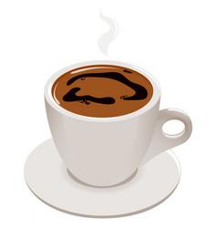 cup greek or turkish coffee vector image