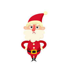 cute santa claus upset cartoon vector image