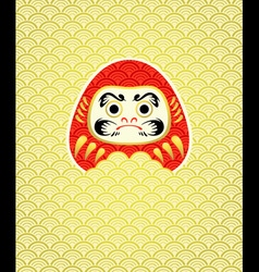 Daruma in waves vector image