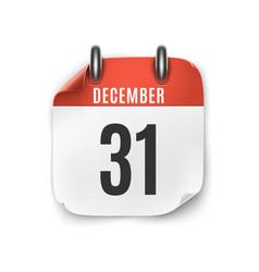 December 31 calendar icon isolated on white vector