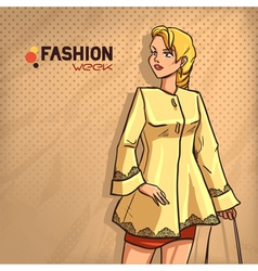 Elegant fashionable lady vector
