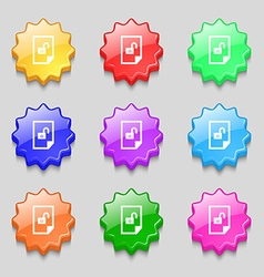 File unlocked icon sign symbols on nine wavy vector
