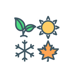 four seasons rgb color icon vector image
