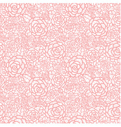 Gentle pastel pink lace roses seamless vector