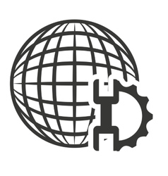 Global technology isolated icon vector