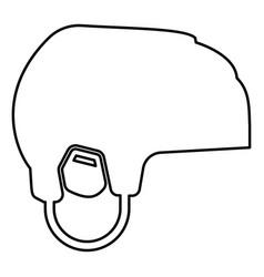 Hockey helmet icon black color flat style simple vector