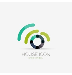 Home wifi company logo business concept vector image