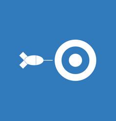 Icon children darts silhouette vector