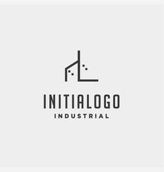 Initial letter l real estate logo design vector
