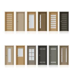 interior doors isolated realistic design vector image