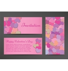 Invitation Valentines Day greeting card vector