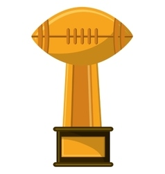 Isolated trophy of american football design vector