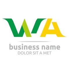 Letter w a alphabet element icon vector