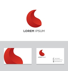 Logo icon design elements business card template vector image