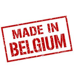 Made in belgium stamp vector