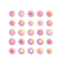 Mandala decoration ornament flower motif ethnic vector