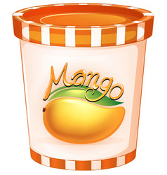 Mango in orange cup vector
