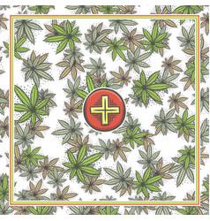 marijuana medical banner five vector image