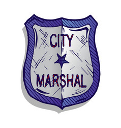 Marshal badge vector