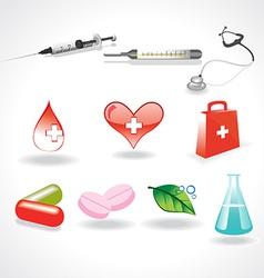 medical elements vector image