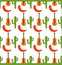 mexican culture pattern background vector image