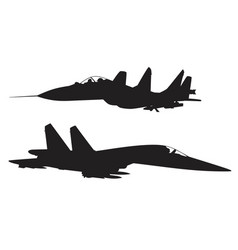 Military fighter vector