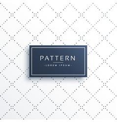Minimal line dots diamond shape pattern background vector