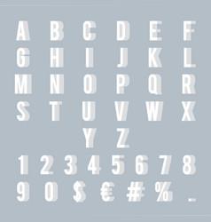 numbers letters 3d alphabet decoration element vector image
