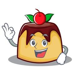 Okay pudding character cartoon style vector
