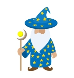Old wizard cartoon character vector image