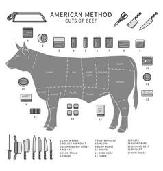 pieces meat line monochrome vector image