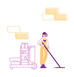 professional cleaning company service concept vector image