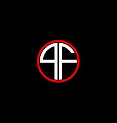 Q f letter logo creative design on black color vector