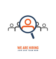 recruitment people for work logo hiring vector image