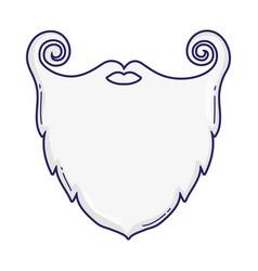 santa beard cartoon vector image