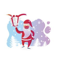 santa claus with medical mask on christmas vector image