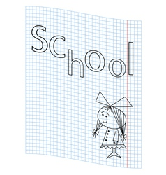 School girl picture vector