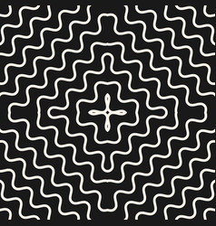 Seamless pattern with concentric wavy lines vector