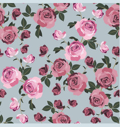 shabby chic rose pattern scrap booking floral vector image