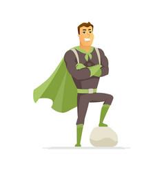 superhero - modern cartoon people character vector image