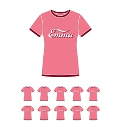 T-Shirt design with the personal name Emma vector